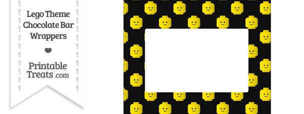 Black Lego Theme Chocolate Bar Wrappers