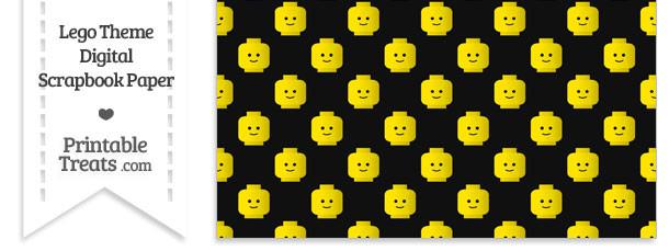 Black Lego Theme Digital Scrapbook Paper