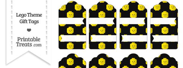 Black Lego Theme Gift Tags