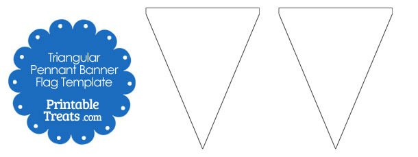 Blank Triangular Pennant Banner Flags from PrintableTreats.com