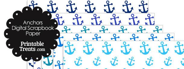 Blue Anchor Digital Scrapbook Paper