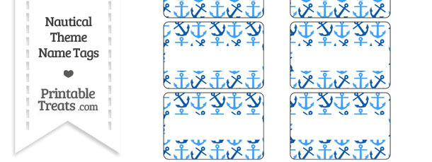Blue Anchors Name Tags