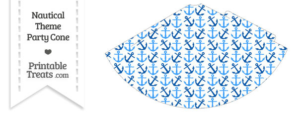Blue Anchors Party Cone