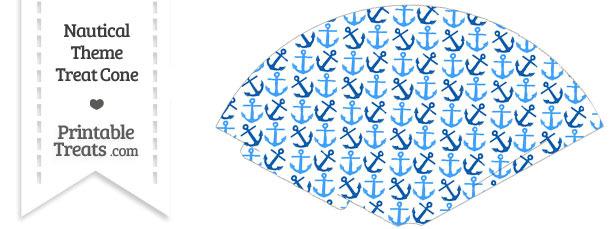 Blue Anchors Treat Cone