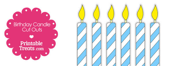 Blue and White Birthday Candle Cut Outs from PrintableTreats.com
