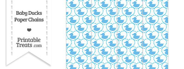 Blue Baby Ducks Paper Chains