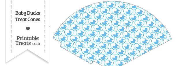 Blue Baby Ducks Treat Cone