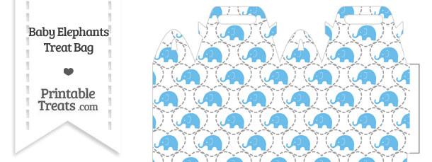 Blue Baby Elephants Treat Bag