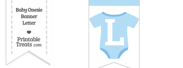 Blue Baby Onesie Bunting Banner Letter L