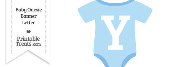 Blue Baby Onesie Shaped Banner Letter Y