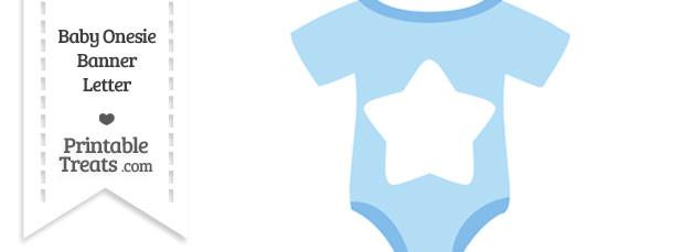 Blue Baby Onesie Shaped Banner Star End