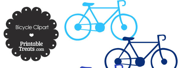 Blue Bicycle Clipart