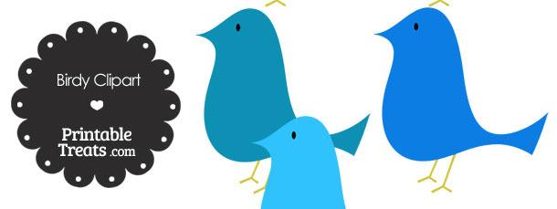 Blue Birdy Clipart