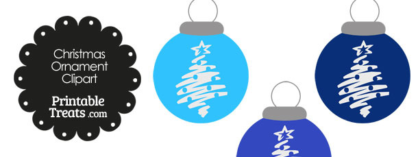 Blue Christmas Tree Christmas Ornament Clipart