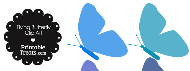 Blue Flying Butterfly Clipart