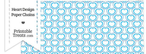 Blue Heart Design Paper Chains
