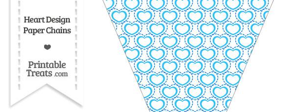 Blue Heart Design Pennant Banner Flag