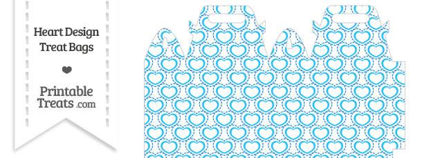 Blue Heart Design Treat Bag