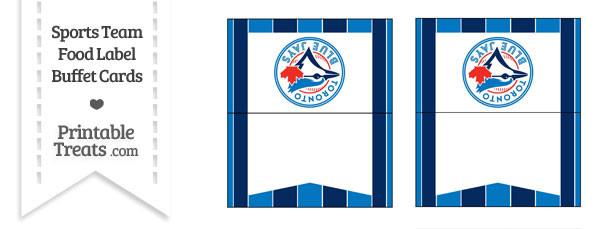 Blue Jays Food Label Buffet Cards
