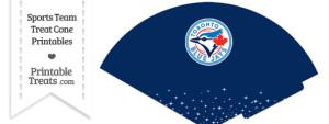 Blue Jays Treat Cone Printable