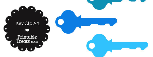 Blue Key Clipart