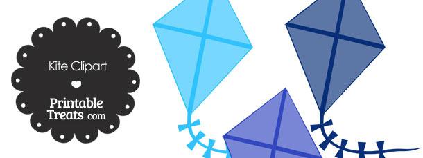 Blue Kite Clipart