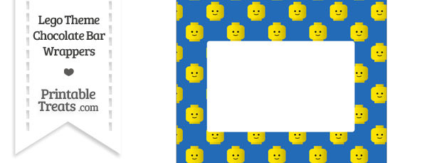 Blue Lego Theme Chocolate Bar Wrappers