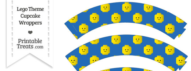Blue Lego Theme Cupcake Wrappers