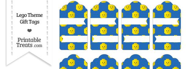 Blue Lego Theme Gift Tags