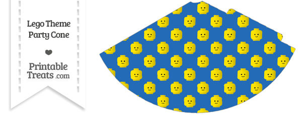 Blue Lego Theme Party Cone