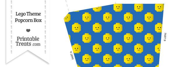Blue Lego Theme Popcorn Box