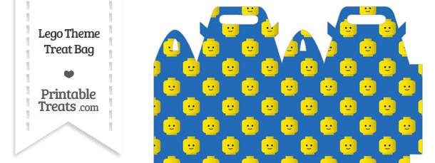Blue Lego Theme Treat Bag