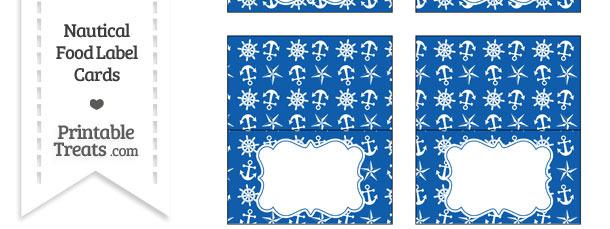 Blue Nautical Food Labels