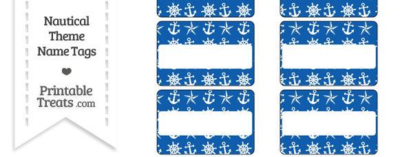 Blue Nautical Name Tags