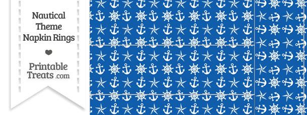Blue Nautical Napkin Rings