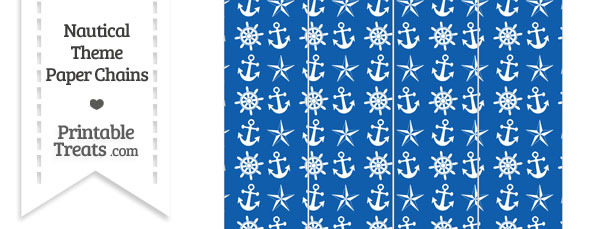 Blue Nautical Paper Chains