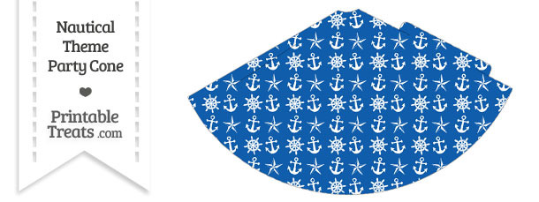Blue Nautical Party Cone
