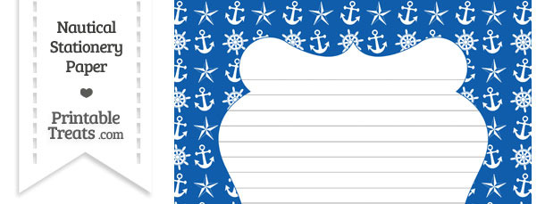 Blue Nautical Stationery Paper
