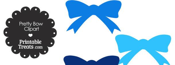 Blue Pretty Bow Clipart