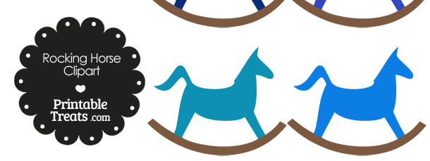 Blue Rocking Horse Clipart