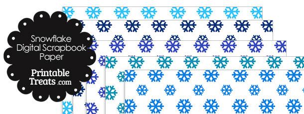 Blue Snowflake Digital Scrapbook Paper
