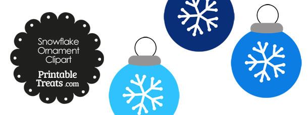 Blue Snowflake Ornament Clipart