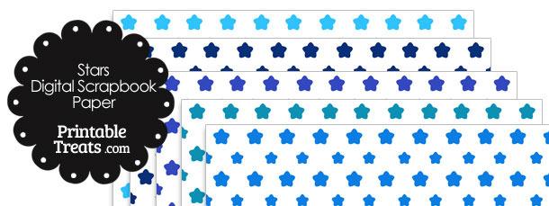 Blue Star Digital Scrapbook Paper