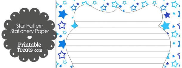 Blue Star Pattern Stationery Paper