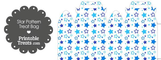 Blue Star Pattern Treat Bag