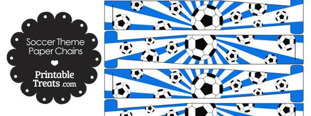 Blue Sunburst Soccer Paper Chains