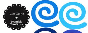 Blue Swirls Clipart