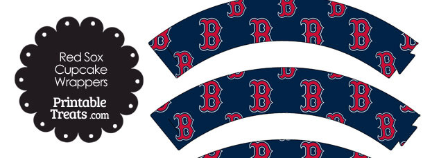 Boston Red Sox Baseball Cupcake Wrappers