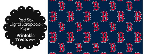 Boston Red Sox Baseball Digital Paper