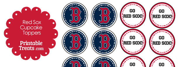 Boston Red Sox Cupcake Toppers